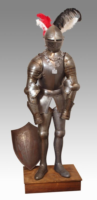 9: EDWARDIAN REPLICATION OF SUIT OF ARMOR