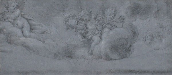 12: OLD MASTER DRAWING ATTRIBUTED TO CORTONA