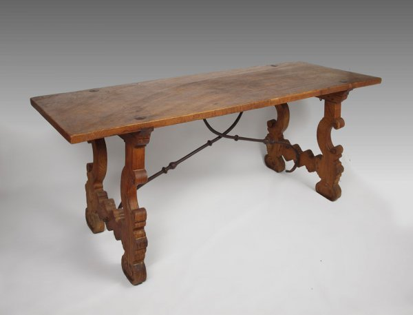17: SPANISH COLONIAL TRESTLE TABLE