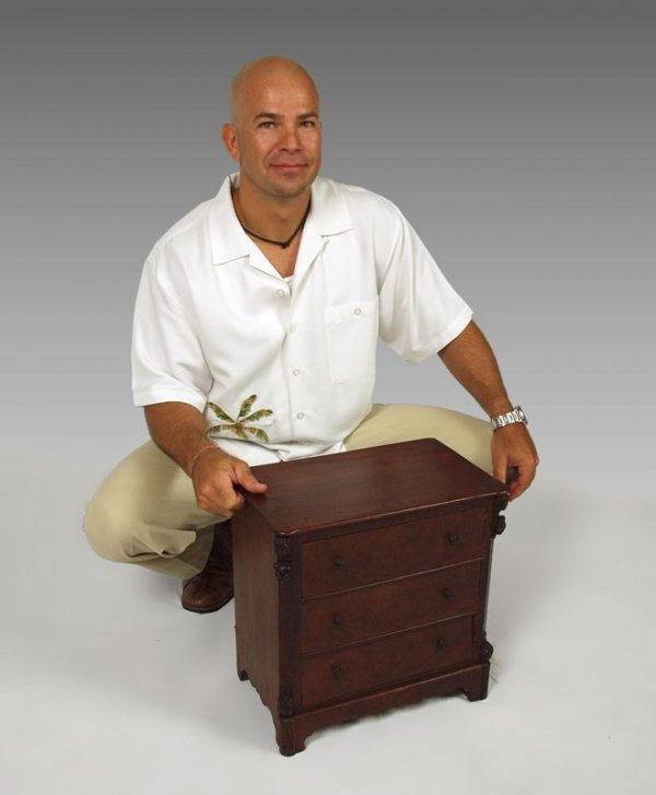 2:  MINIATURE CHEST DATED  1857