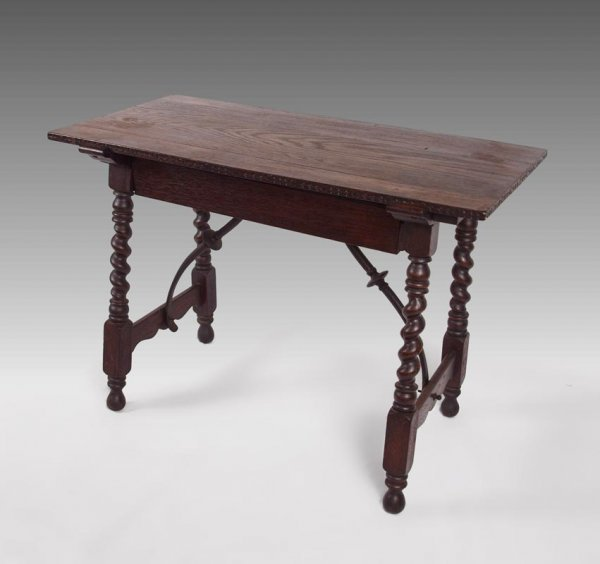 19A: 19TH CENTURY ENGLISH OAK TAVERN TABLE