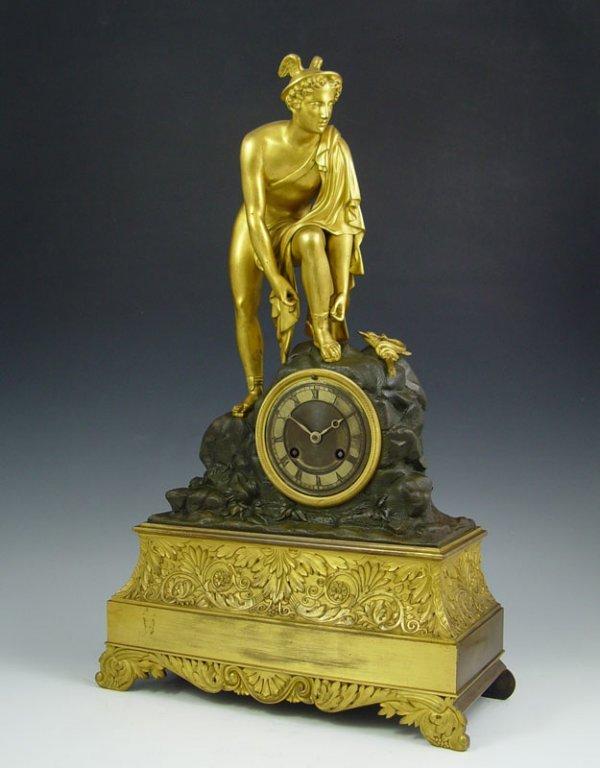 3: FRENCH FIGURAL MERCURY CLOCK