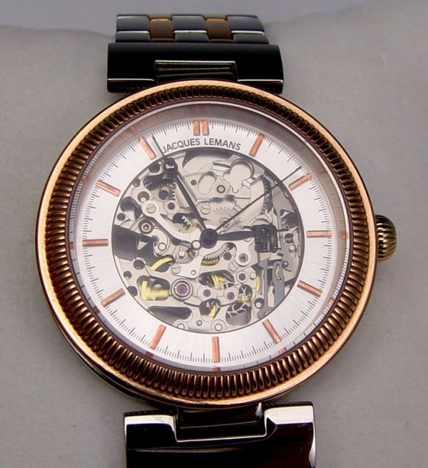182: JACQUES LEMANS SKELETON STYLE SWISS WRISTWATCH - 3