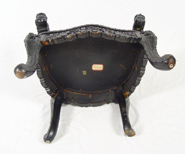 178: PAIR CHINESE CARVED DRAGON CHAIRS - 9