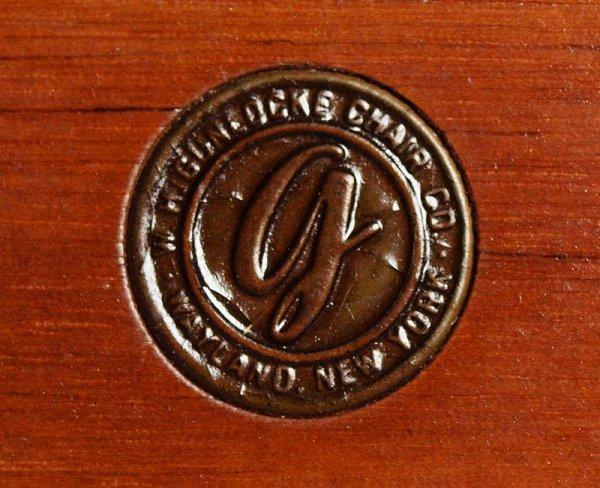 160A: PAIR OF W.H. GUNLOCKE CHAIR CO. CHAIRS - 5