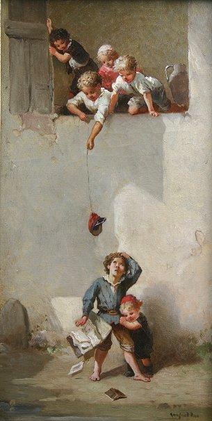 20: LANFANT DE METZ CHILDREN PLAYING PAINTING