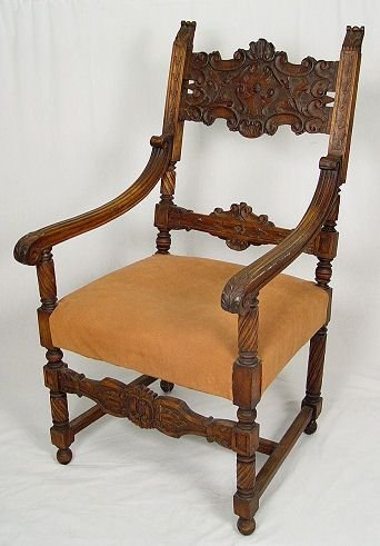 9: CARVED MAHOGANY THRONE CHAIR