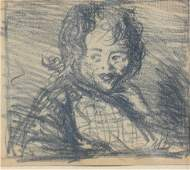 ROBERT HENRI PENCIL DRAWING OF CHILD SKETCH