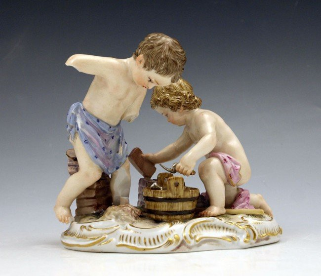 20A: 19TH C MEISSEN FIGURAL GROUP