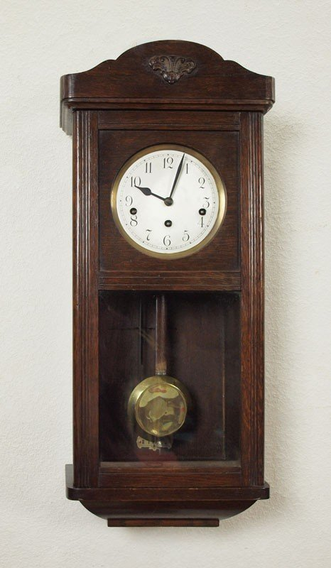 391: MULLER & CO. GERMAN WALL CLOCK - 2