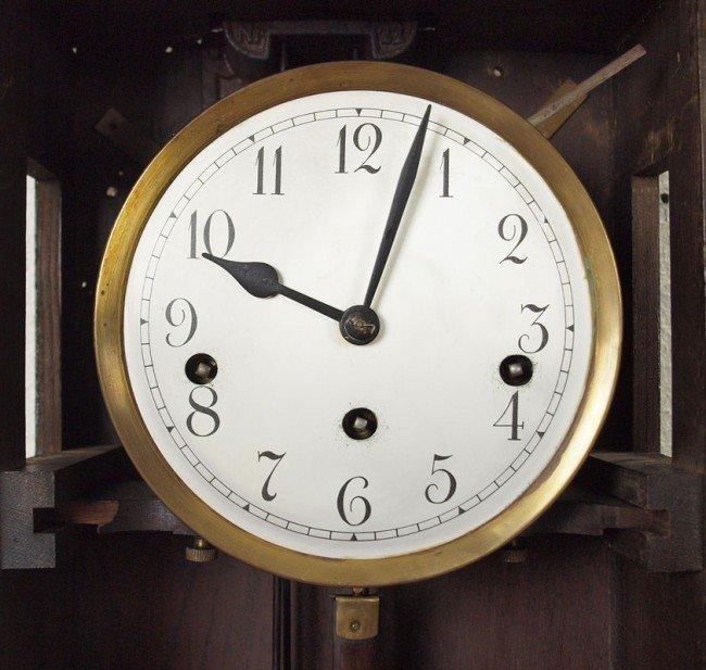 391: MULLER & CO. GERMAN WALL CLOCK - 3