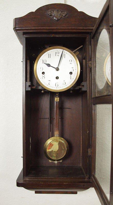 391: MULLER & CO. GERMAN WALL CLOCK - 4