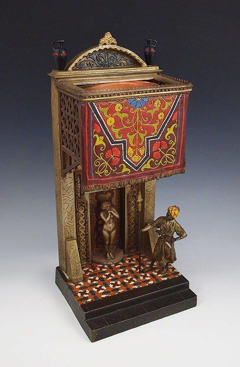 1: CHOTKA ORIENTALIST AUSTRIAN BRONZE EROTICA LAMP