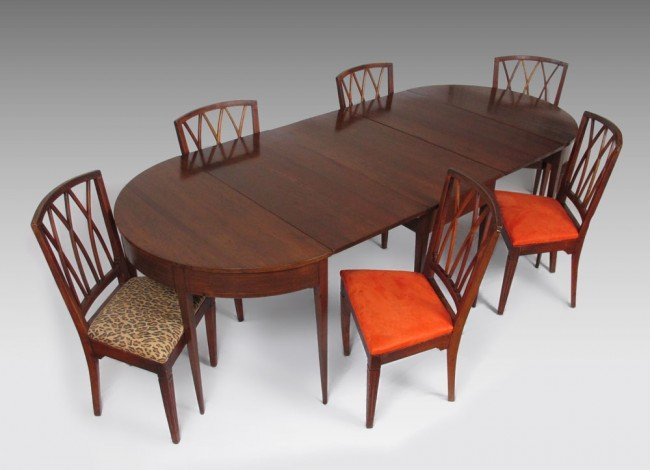 18: 19TH CENTURY  MAHOGANY D-END TABLE