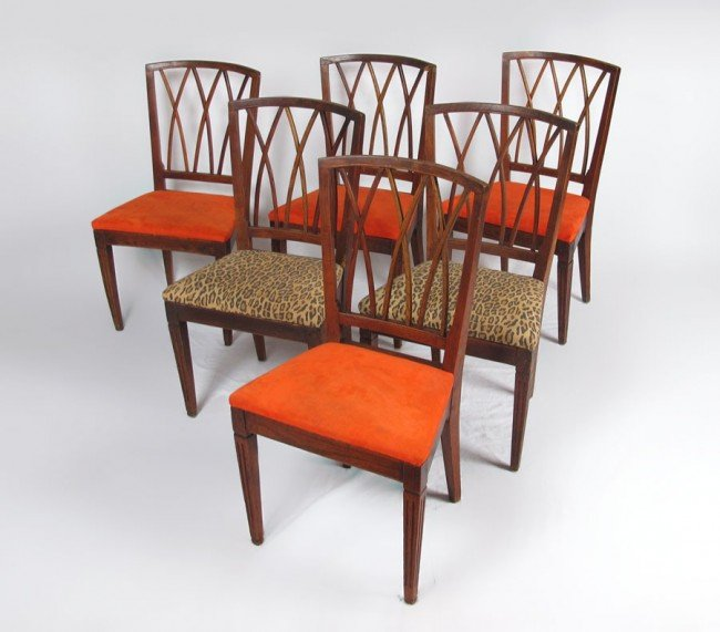 18A: SET OF SIX EARLY DINING CHAIRS