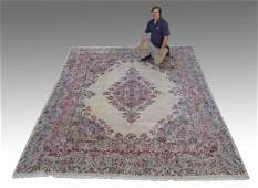 361 PERSIAN SEMIANTIQUE KERMAN HAND KNOTTED WOOL RUG