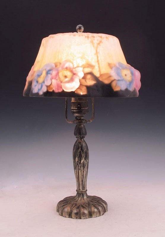 2: PAIRPOINT PUFFY SHADE BOUDOIR LAMP