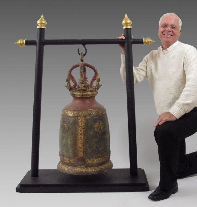 10: 18TH CENTURY BUDDHIST TEMPLE BELL