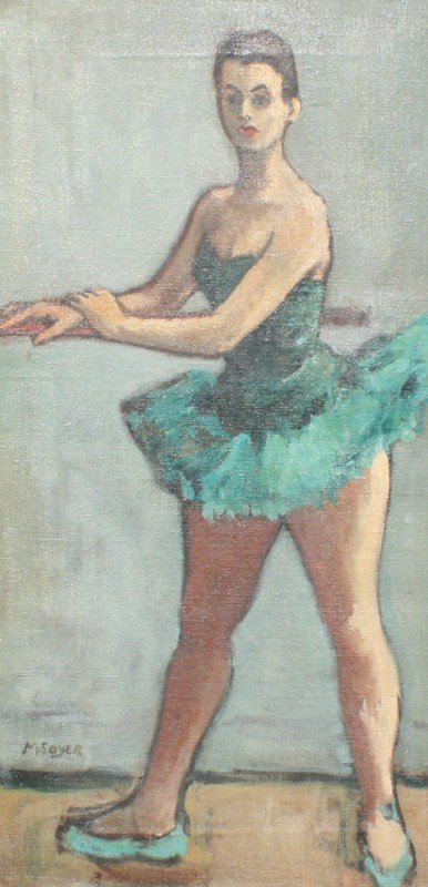 229: MOSES SOYER BALLERINA PAINTING