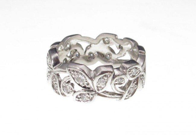 8: ART DECO PERIOD PLATINUM DIAMOND BAND RING