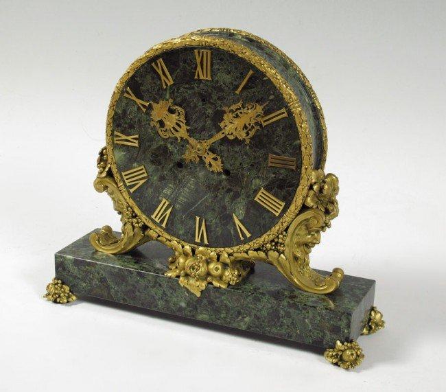 1: E. F.  CALDWELL ORMOLU AND MARBLE MANTLE CLOCK