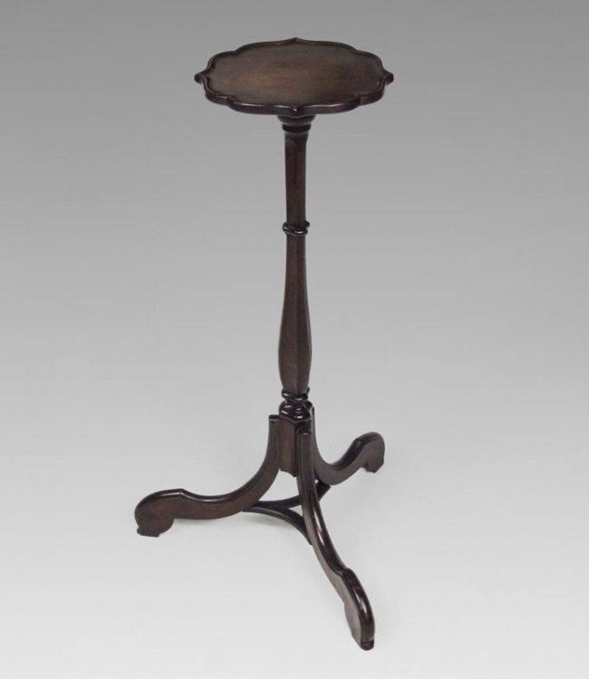 9: 19TH C. MAHOGANY CANDLE STAND