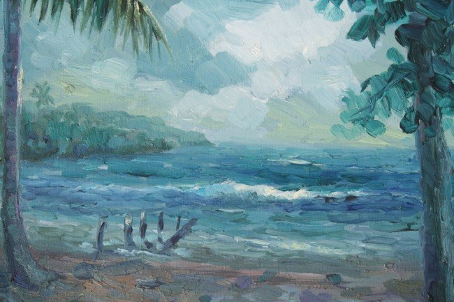 336: ERIC SMITH JAMAICAN PAINTING - 4