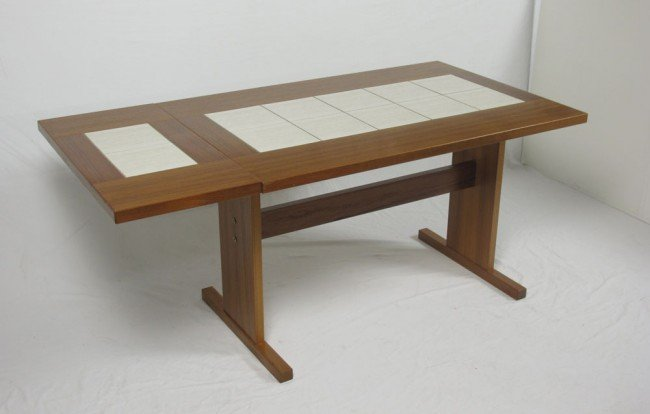 257A: GANGSO MOBLER DANISH MODERN TABLE AND CHAIRS - 2