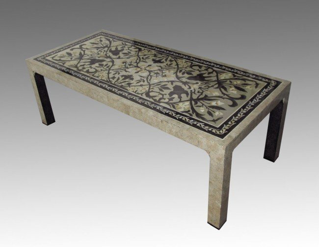 21: MOSAIC MOTHER OF PEARL  CONFERENCE TABLE