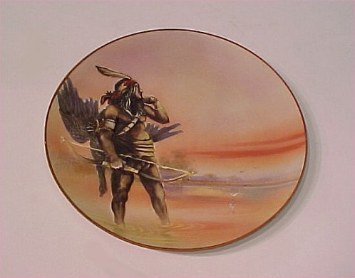 2A: BLOWN OUT NIPPON PLATE NATIVE AMERICAN