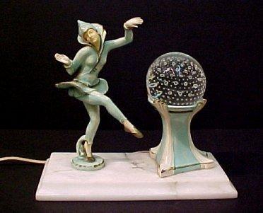 3A: ART DECO FIGURAL HARLEQUIN LAMP