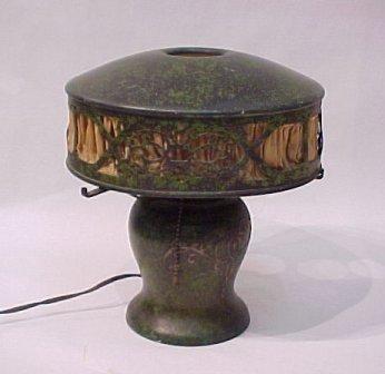 5A: HEINTZ ART METAL BRONZE TABLE LAMP