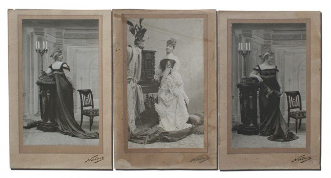23: COLLECTION OF 3 NADAR PHOTOGRAPHS
