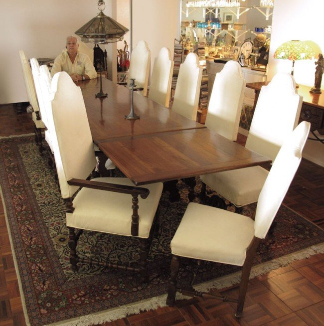 12: 14 PC SPANISH COLONIAL DINING SET