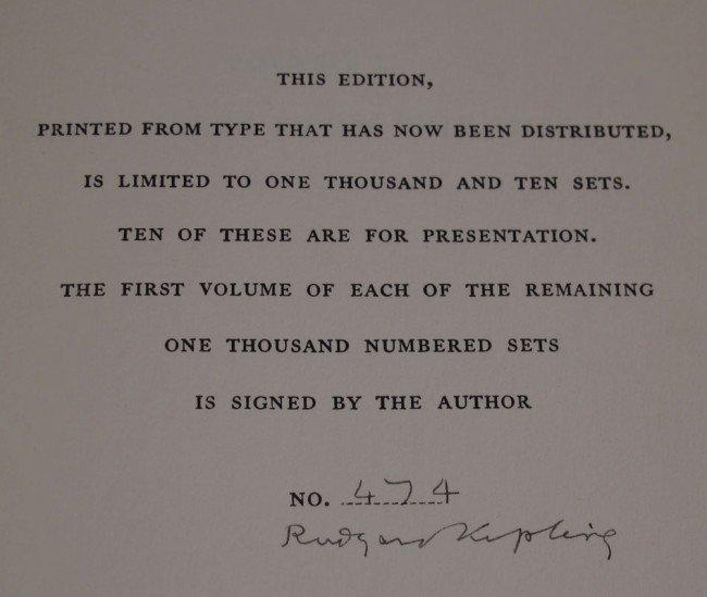 124: BURWASH EDITION COMPLETE WORKS OF RUDYARD KIPLING - 2