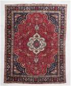 """249: PERSIAN HAND KNOTTED WOOL ROOM SIZE RUG, 9' 6"""" x 1"""