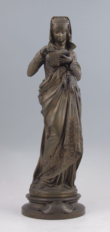 14: CARRIER-BELLEUSE ''LISEUSE'' BRONZE