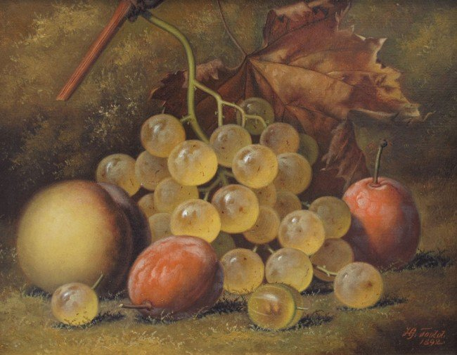 27: HENRY GEORGE TODD STILL LIFE PAINTING