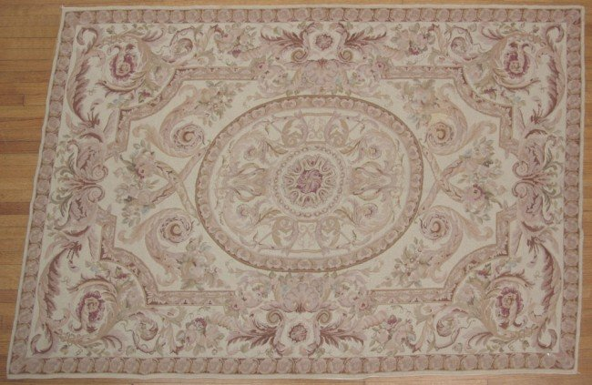 28B: FRENCH AUBUSSON NEEDLEPOINT TAPESTRY