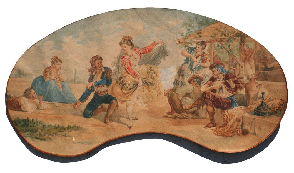 14: ILLEGIBLY SIGNED LATE 19th C. PAINTING OF A GYPSY