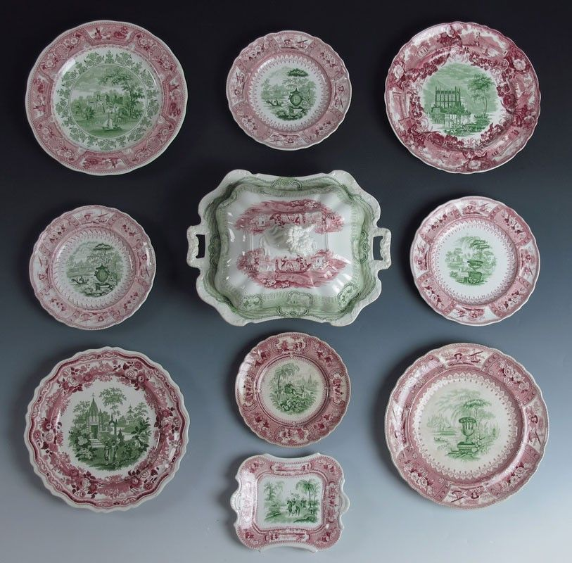 STAFFORDSHIRE TRANSFERWARE ASSEMBLED COLLECTION