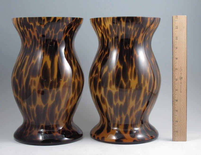 422: PAIR OF POLISH MOMO PANACHE GLASS VASES - 2