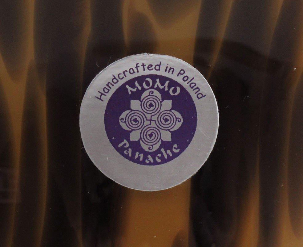422: PAIR OF POLISH MOMO PANACHE GLASS VASES - 3
