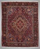 85 SEMIANTIQUE PERSIAN HAND KNOTTED WOOL RUG 10 X 12