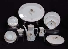 380 80 PC ROSENTHAL SHADOW ROSE FINE CHINA FOR 12