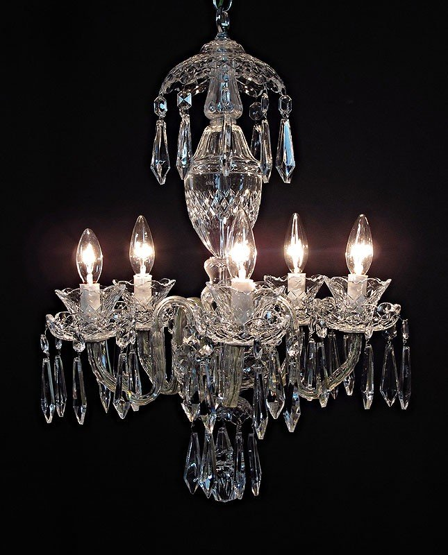 21: SIGNED WATERFORD CHANDELIER