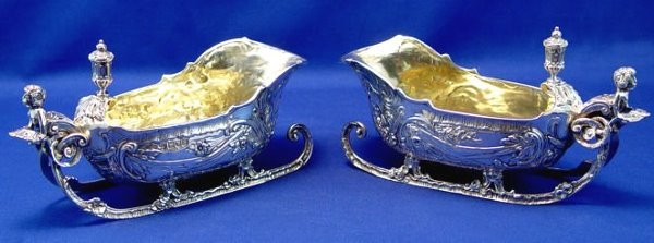 1: PR W. COMYNS ENGLISH STERLING SILVER SAUCE BOATS