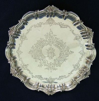 3: ENGLISH STERLING TRAY LONDON BRADBURY 1885