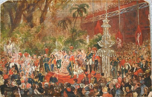 4: 1850 CRYSTAL PALACE EXPOSITION PAINTING