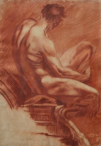 24: GOOD 19TH C SATYR DRAWING